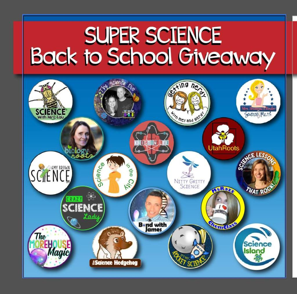 2018 Secondary Science Back to School Giveaway!