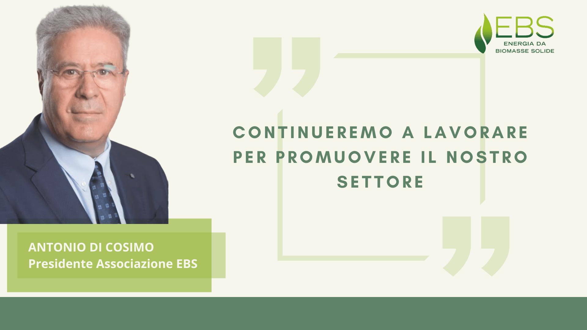 EBS: ANTONIO DI COSIMO ELETTO  NUOVO PRESIDENTE DELL'ASSOCIAZIONE
