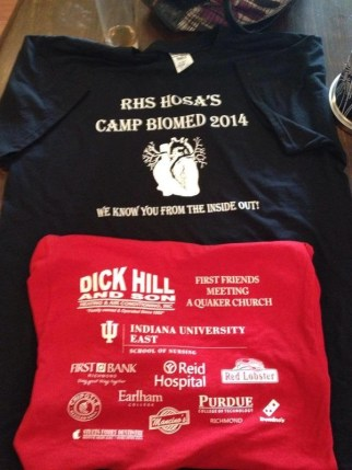 The Shirts (we raised >$1,500 through sponsorships, counselors wore black and campers red)