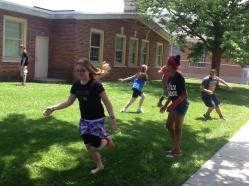 Kids enjoying some games outside