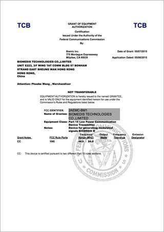 certificate_FCC_biomedis_m_320