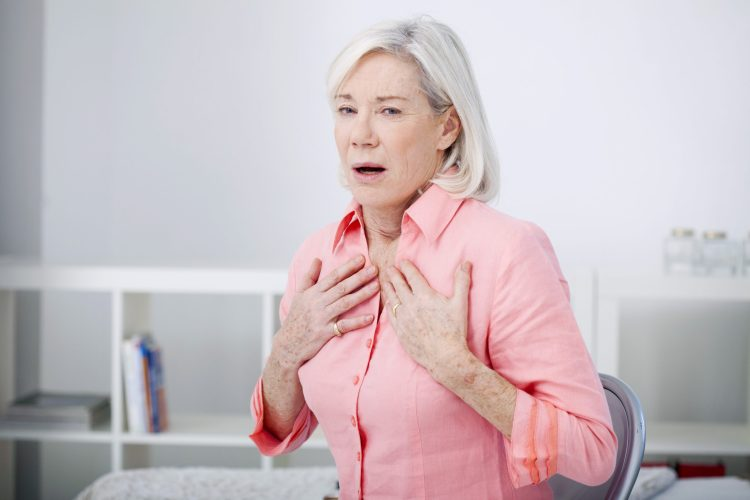 Senior female with COPD