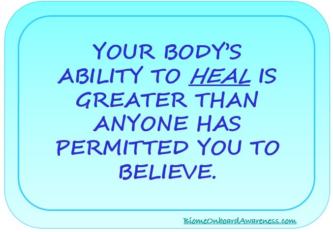 Your Body Ability To Heal