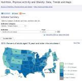 2013 US obesity map