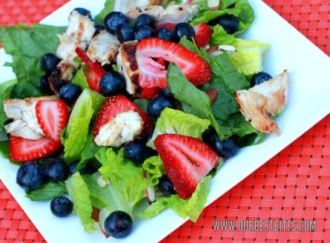 Grilled Chicken with 4th July fruit