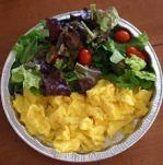 Scrambled egg salad