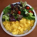 Scrambled egg salad