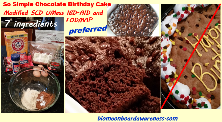 So Simple Birthday Chocolate Cake and healing diets