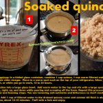 Soaked quinoa recipe card