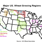 Map of Major US Wheat Growing Regions