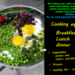 Cooked Eggs with phytonutrients_greens and colors