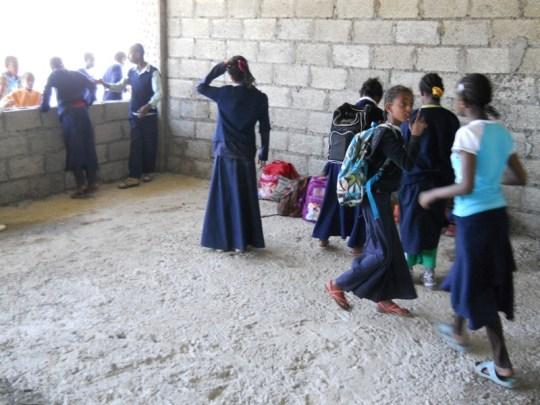 photo of children in new school