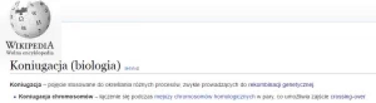 Koniugacja; definicja