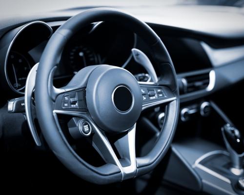 Interior of luxurious sport car