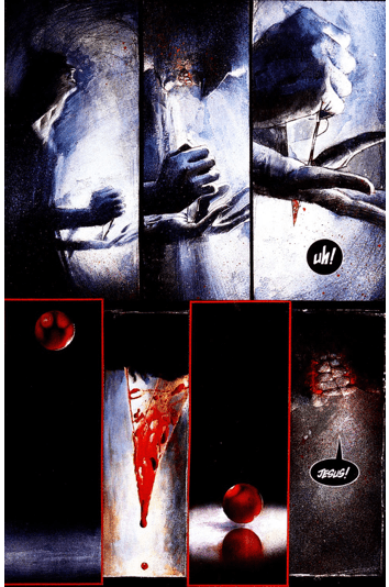 Jesus imagery in Arkham Asylum
