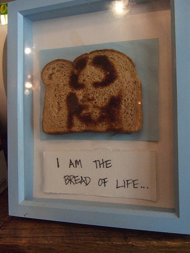 Jesus is made out of toast.