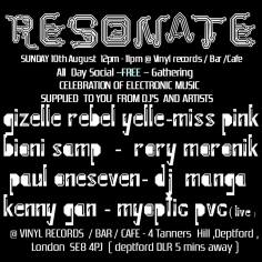 Resonate, Deptford, London 2014