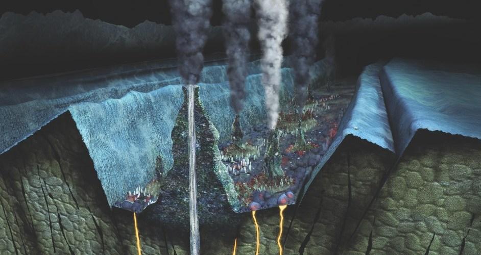 Des monts hydrothermaux : le lieu de vie de nos protagonistes