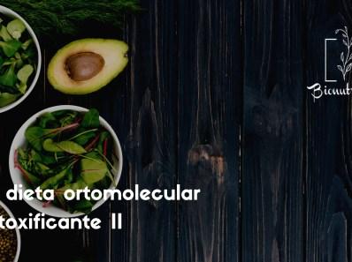 La dieta ortomolecular detoxificante II-Bionutrición Ortomolecular