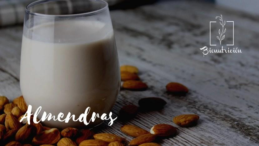 Leches vegetales: leche de almendras- Bionutrición Ortomolecular
