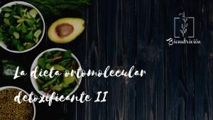 La dieta ortomolecular detoxificante 2- Bionutricion Ortomolecular 2