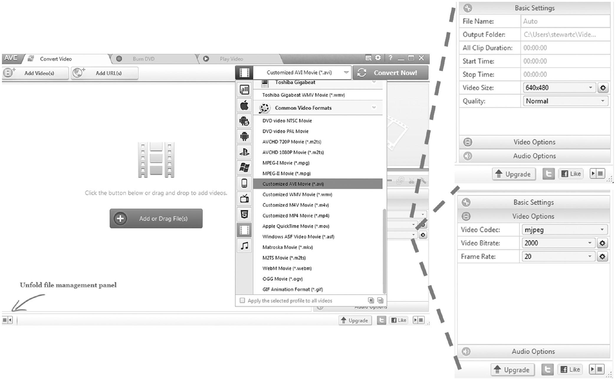 conversion imagej format cvs