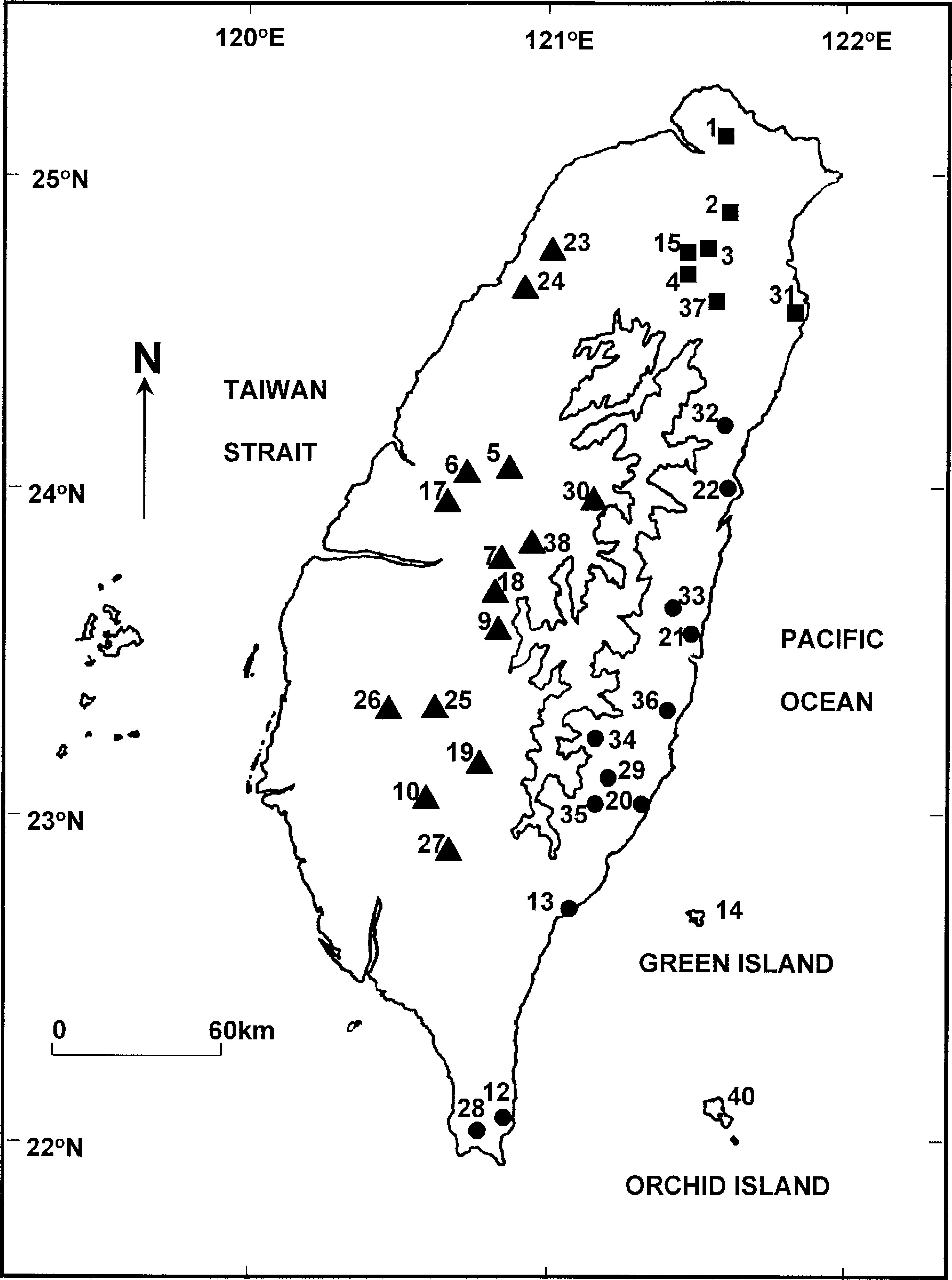 Offshore Insular Variation in the Diet of the Taiwanese