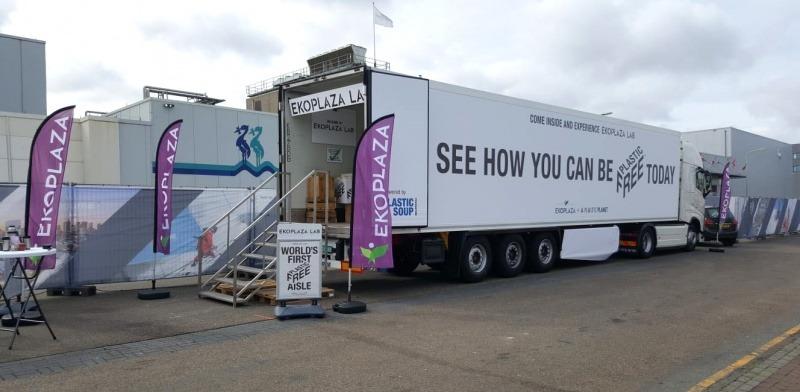 mobile plastic free supermarket truck