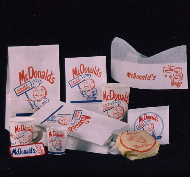first packaging of mcdonalds