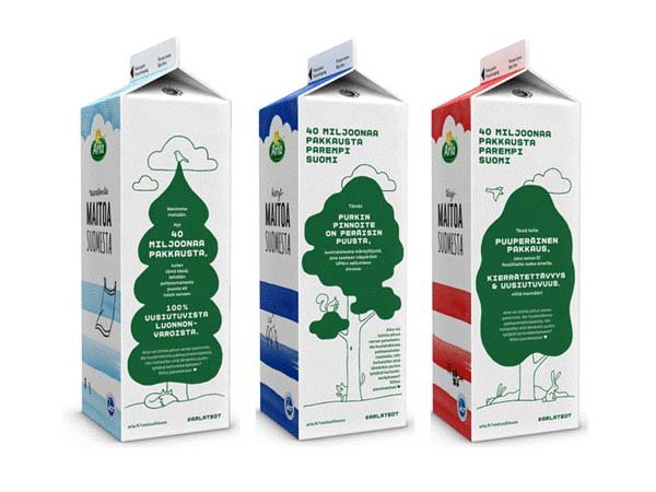 Arla introduces paperboard cartons with wood-based bioplastic lining