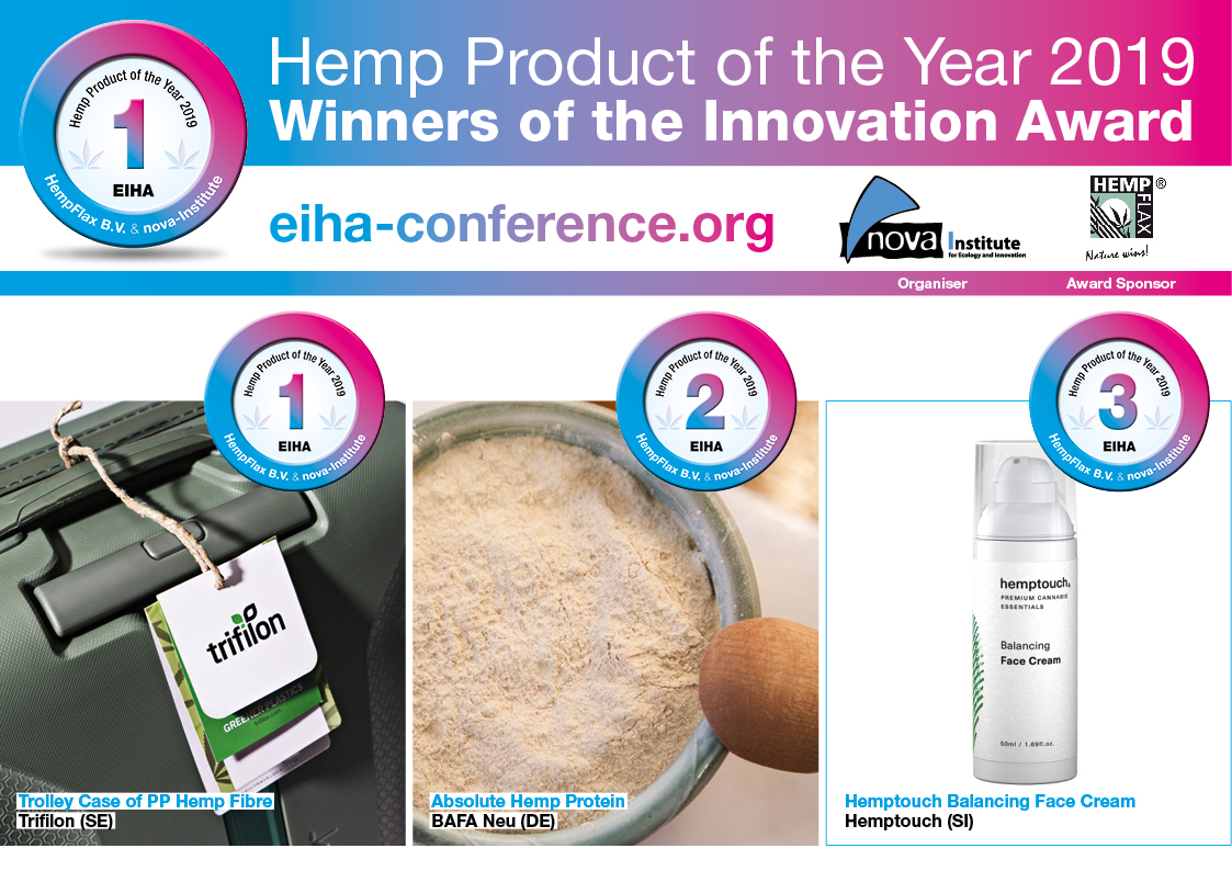 hemp product of the year 2019 award