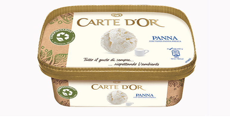 New renewable, recyclable and compostable package for Carte d'Or