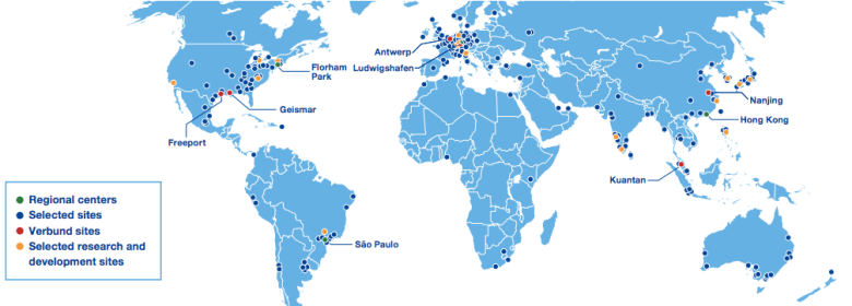BASF sites, 2018