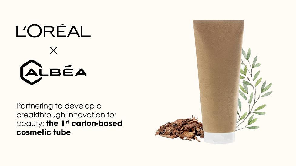 loreal albea paper base cosmetic tube