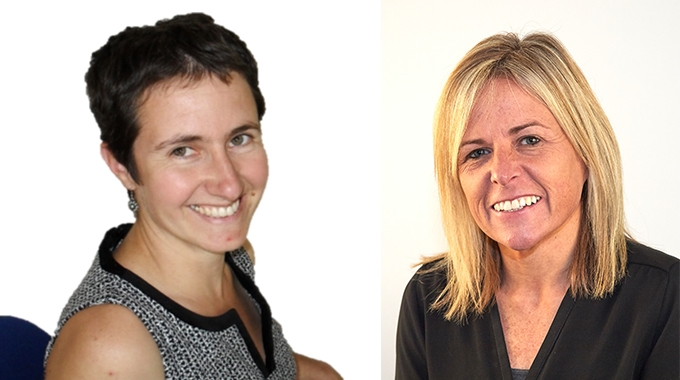 Clare McKeown the new UK & Eire sales manager, and Amaia Cowan, new business development manager.