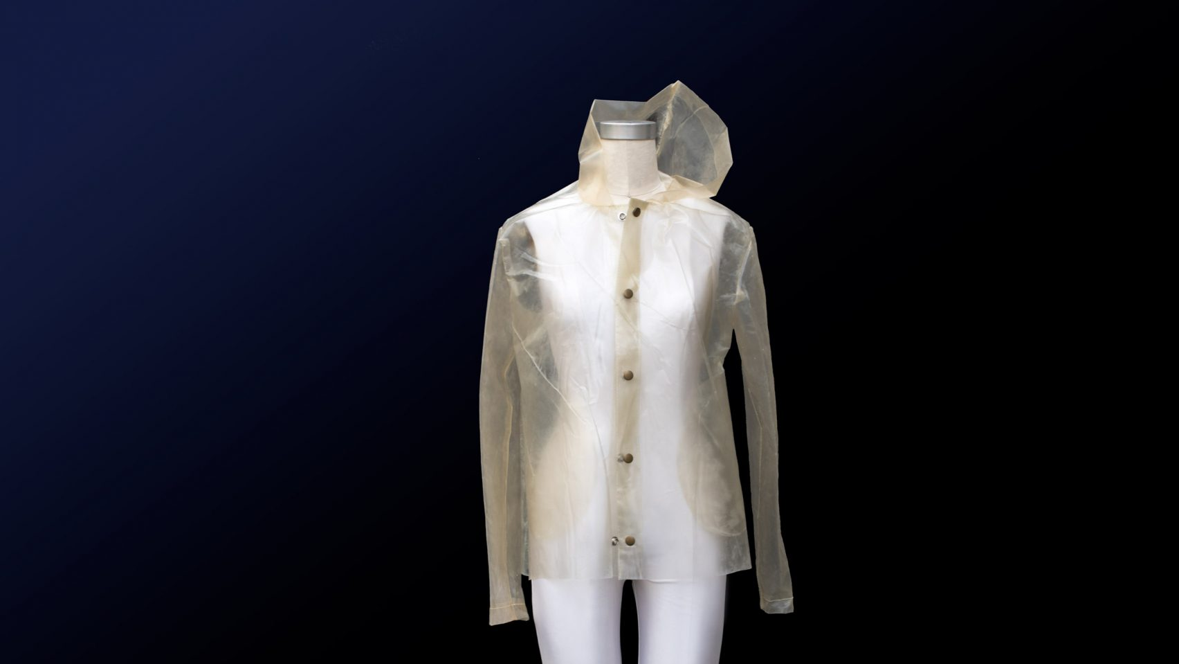 algae bioplastics raincoat