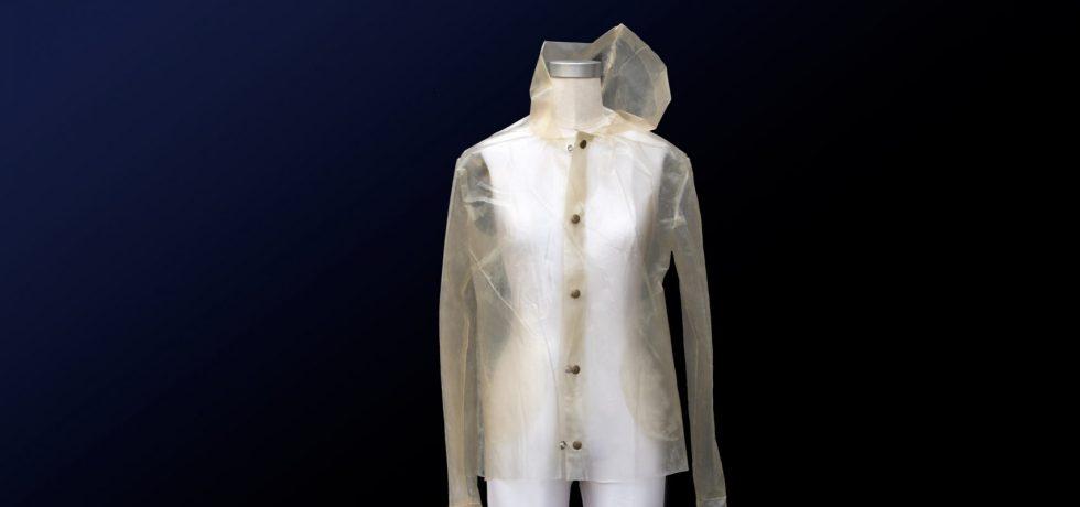 algae bioplastics raincoat
