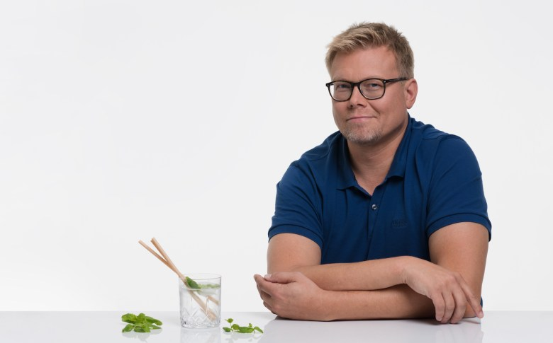 Antti Pärssinen, Innovation Director and the head of Sulapac straw development.