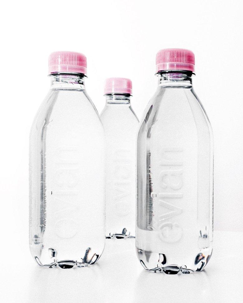 evian bottles label free