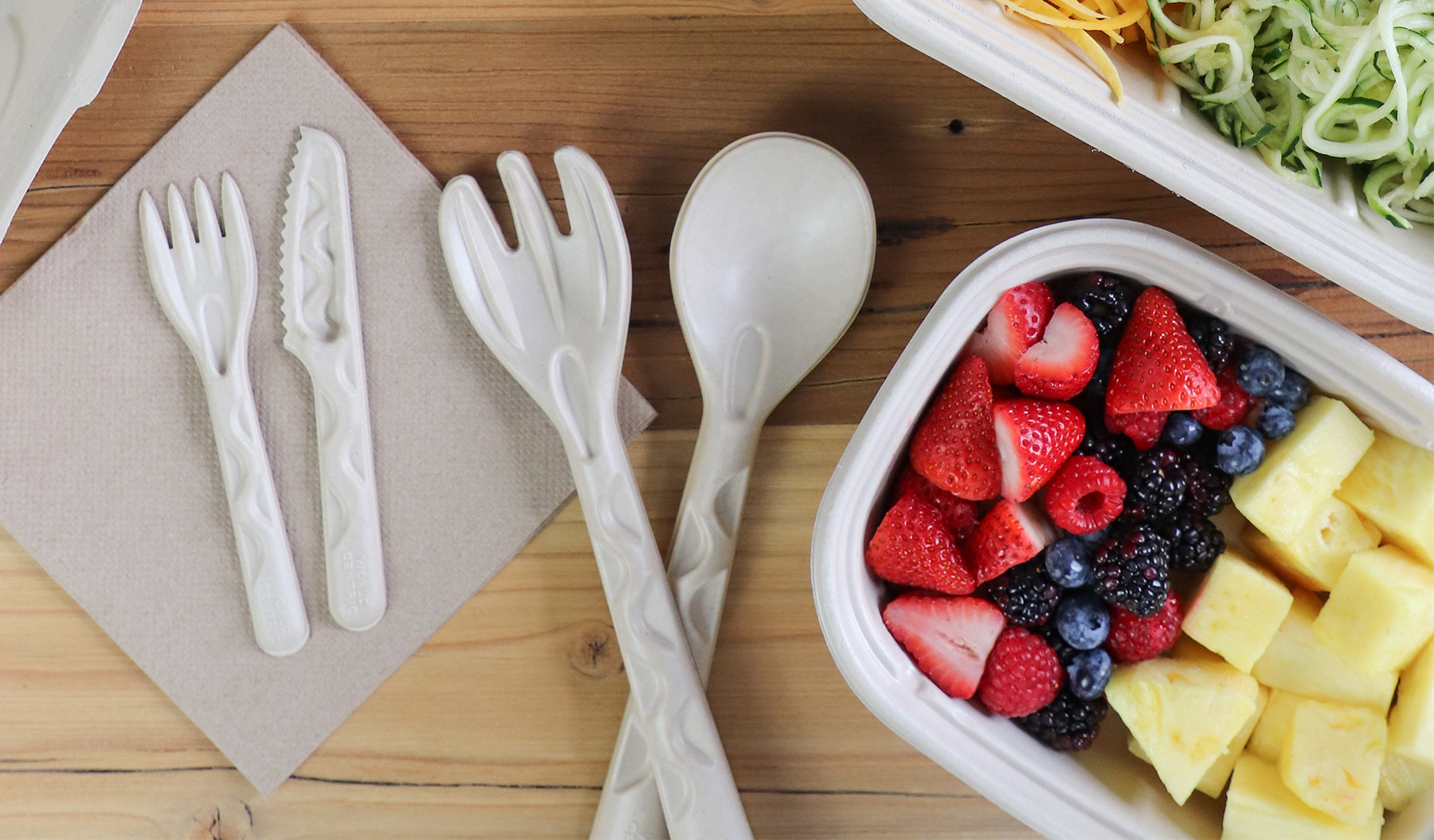 Compostable Molded Fiber Cutlery
