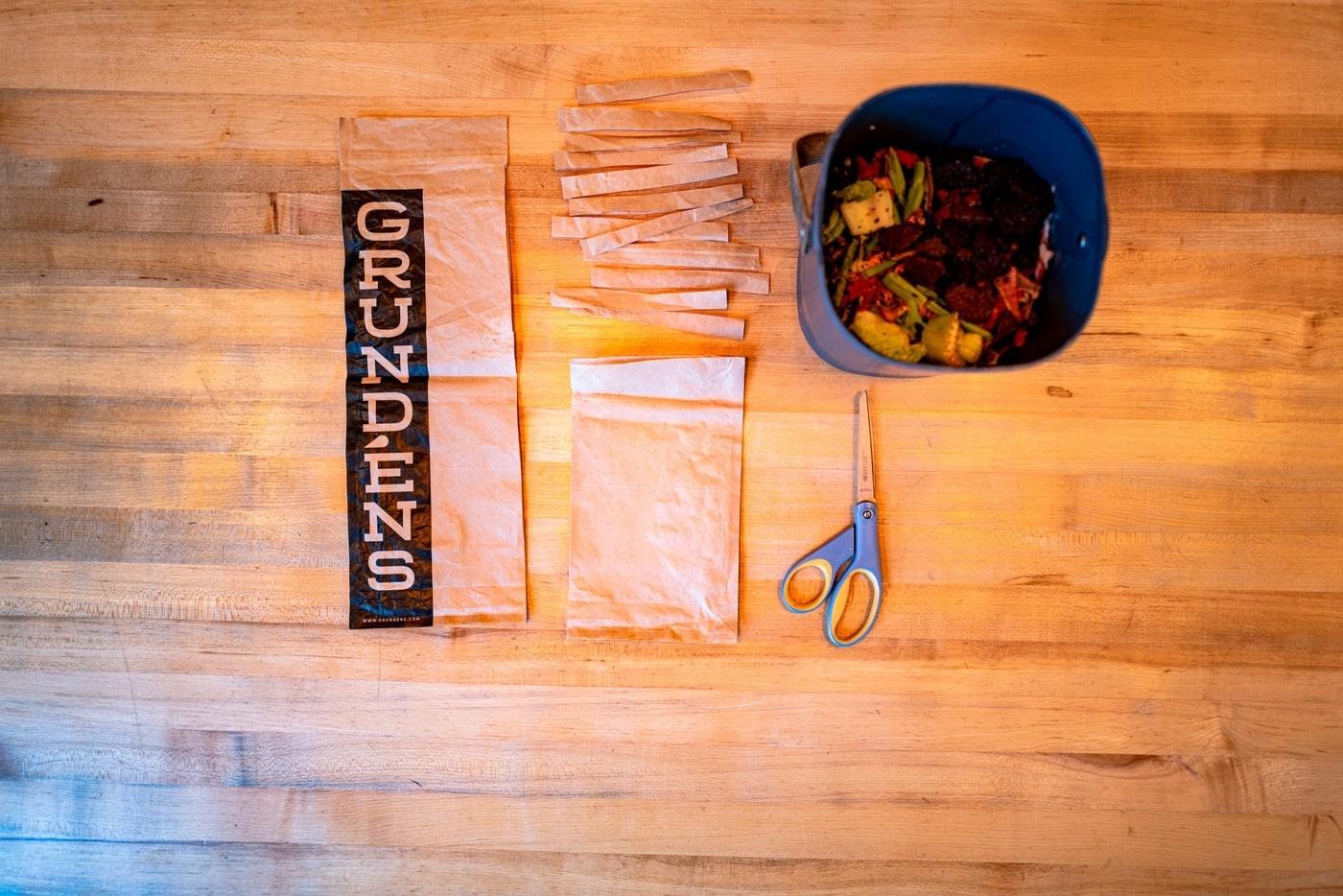 Grundens compostable bag