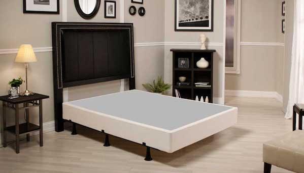 Simple Life Foundation set up on a bedframe