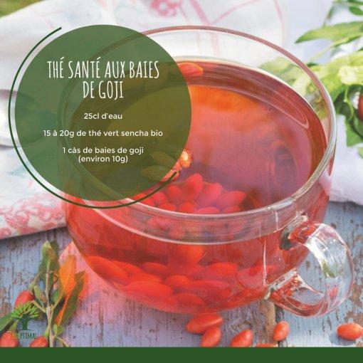 Thé santé aux baies de goji