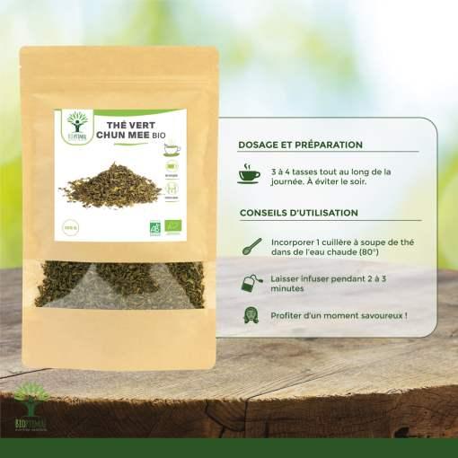 Utilisation thé vert bio