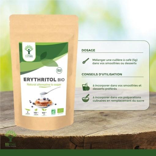 Utilisation erythritol