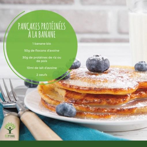 Pancakes protéines à la banane et aux flocons d'avoine
