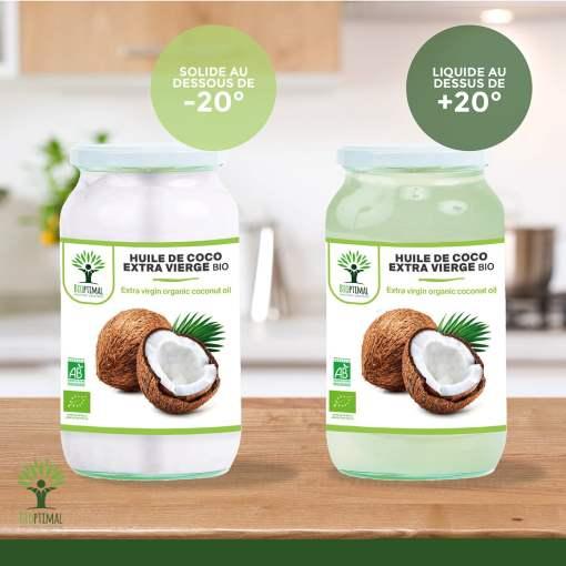 Stockage huile de coco bio