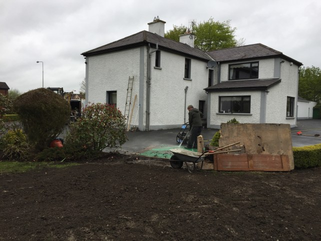 Tidying up groundworks after installation