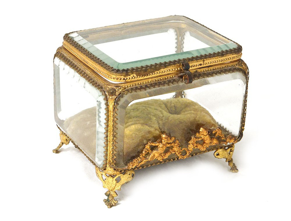 coffret-boite-bijoux-verre-laiton-dore-angelots-napoleon-iii-xixeme-siecle