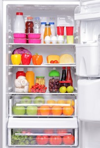 Fridge full of healthy products